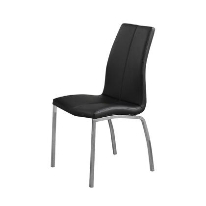 BM171536 Contemporary Faux Leather Upholstery Dining Chair  Set Of 4  Black And