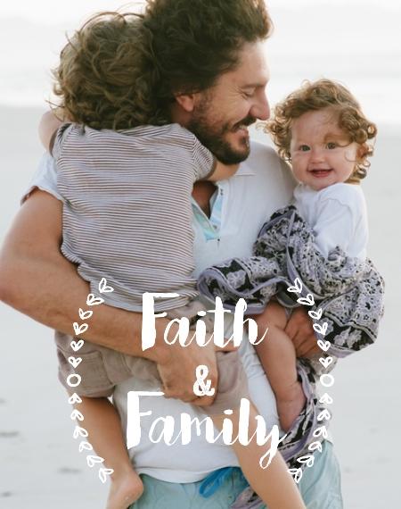 Family 11x14 Wood Panel, Home Décor -Faith and Family