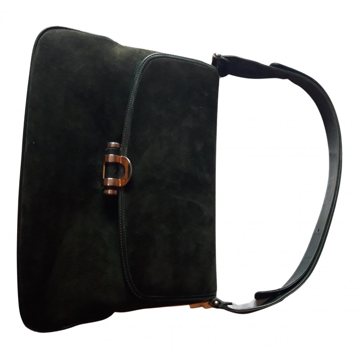 Non Signe / Unsigned \N Handtasche in  Gruen Samt