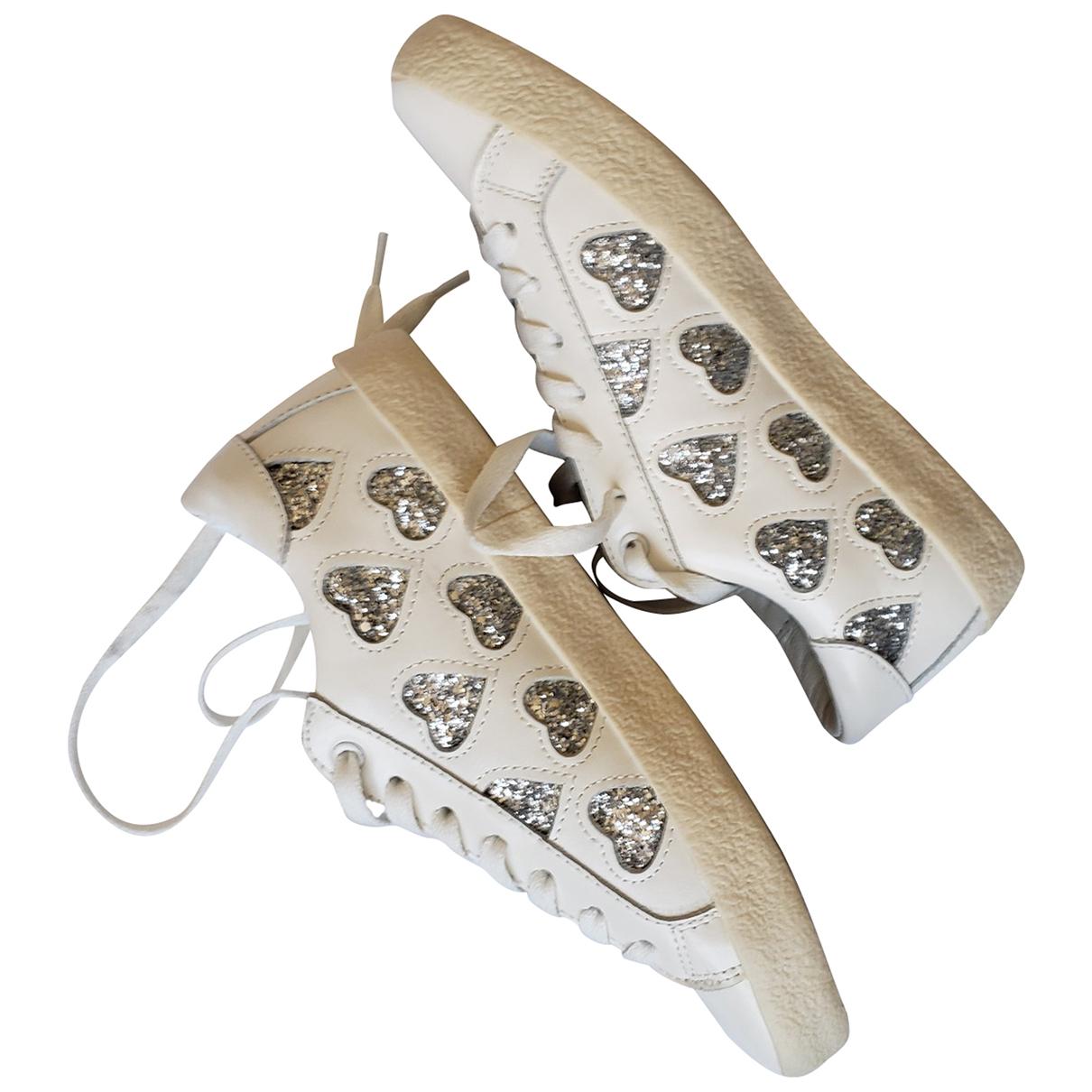 Essentiel Antwerp \N Sneakers in  Weiss Leder