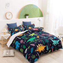 Set de cama con estampado de dibujos animados sin relleno