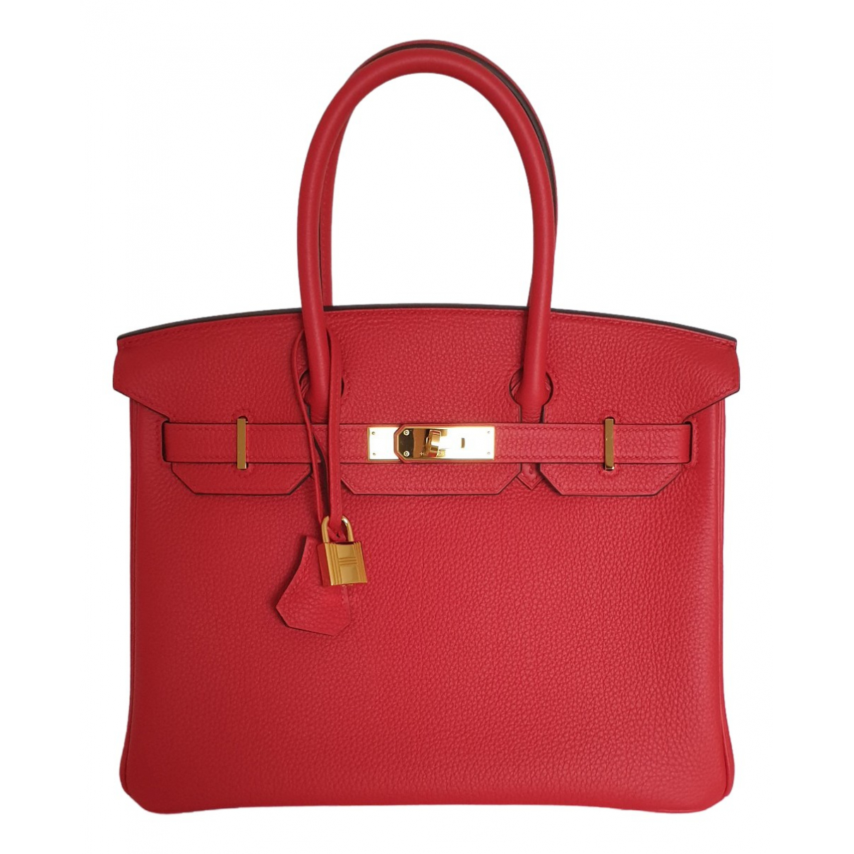 Hermès Birkin 30 Red Leather handbag for Women \N