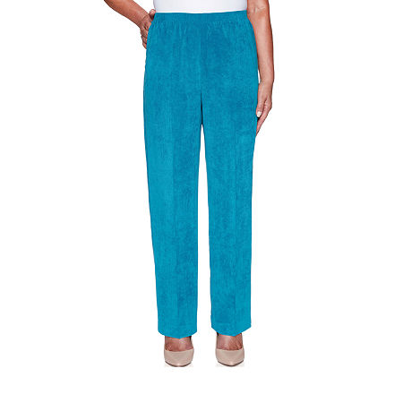 Alfred Dunner Classics Womens Straight Corduroy Pant, 8 , Green