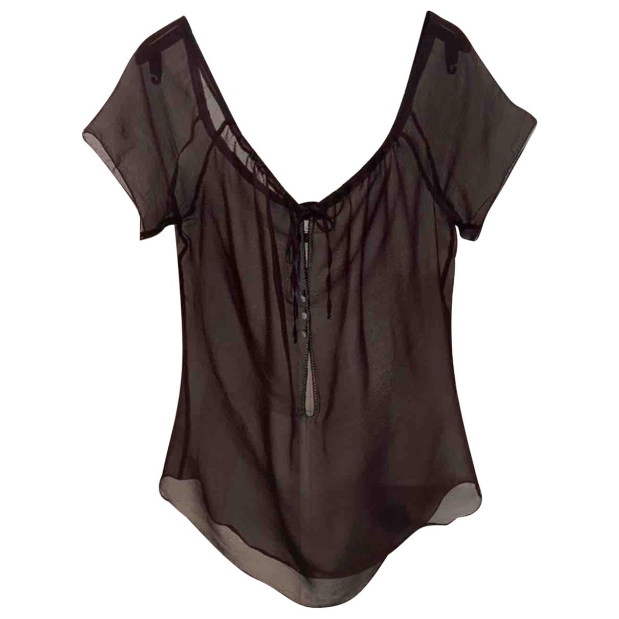 Chanel \N Burgundy Silk  top for Women 42 FR