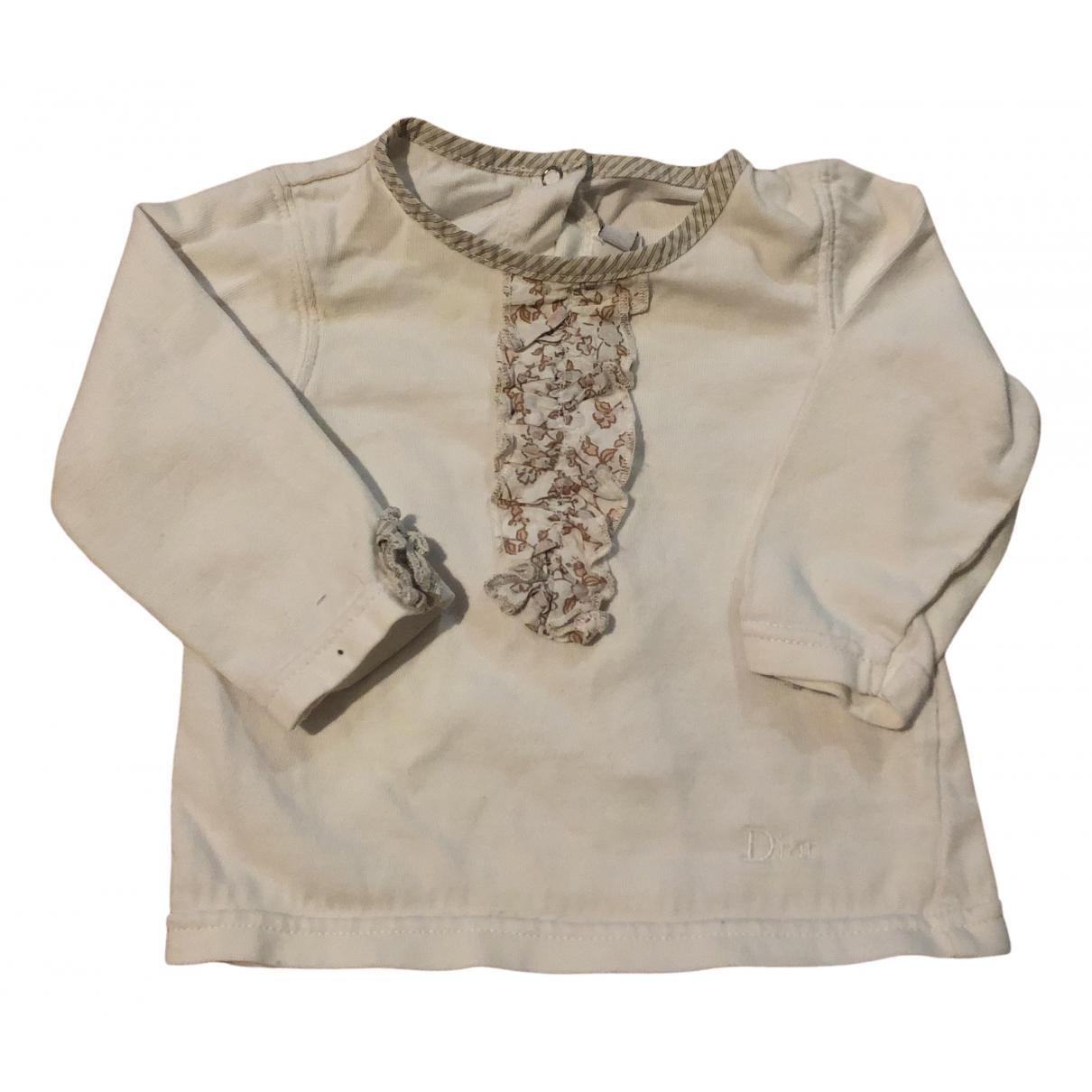 Baby Dior - Top   pour enfant en coton - beige