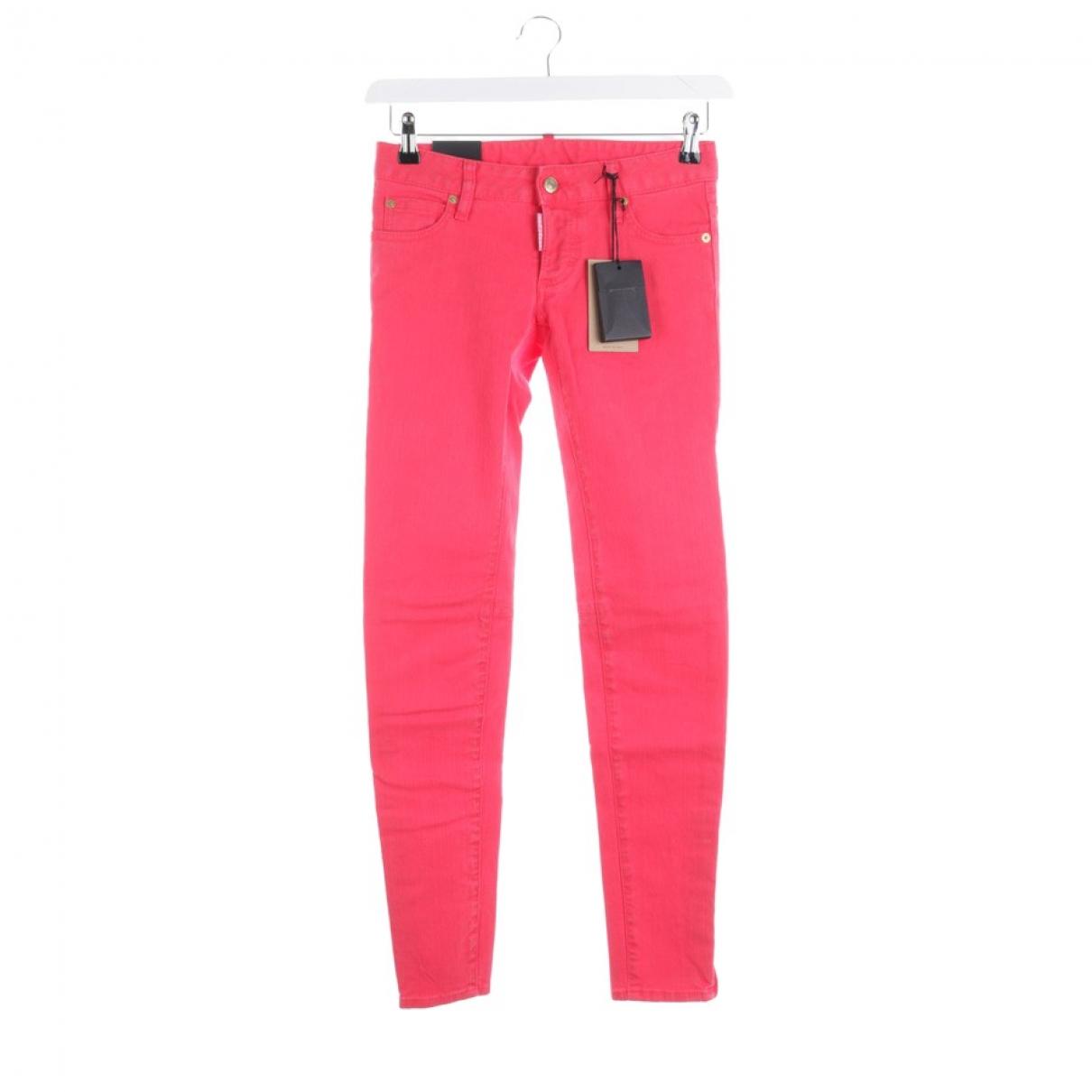 Dsquared2 - Jean   pour femme en coton - rouge
