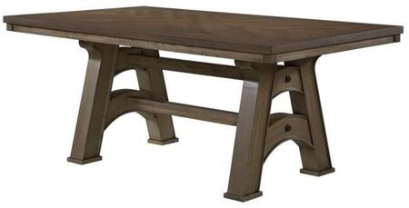 Matthew Collection MT200-T Dining Table with Trestle Table Base and Rectangular Shape in Washed Gray