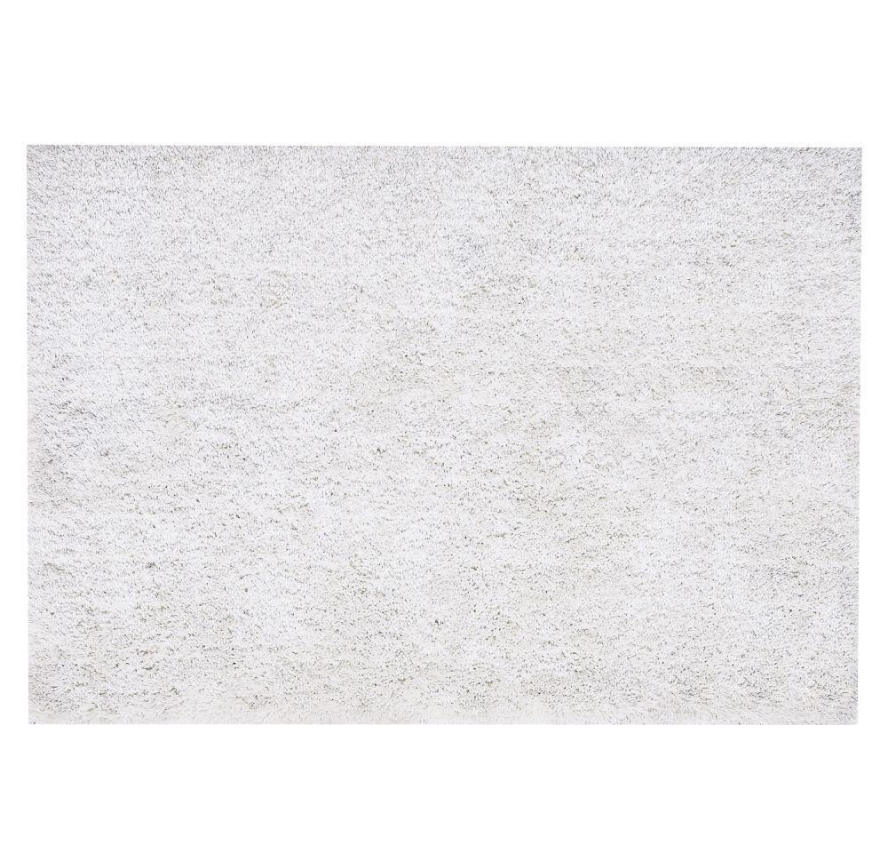 Hochflor Teppich aus Stoff, 140 x 200cm, ecru