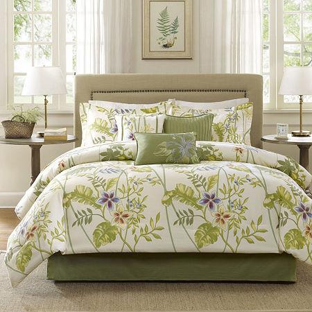 Madison Park Hana Tropical 7-pc. Comforter Set, One Size , Yellow