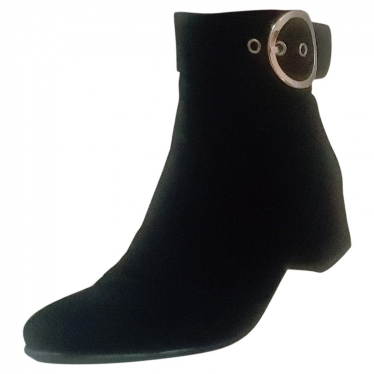 Non Signé / Unsigned \N Black Leather Ankle boots for Women 41 EU
