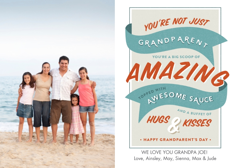 Grandparents Mail-for-Me Premium 5x7 Folded Card , Card & Stationery -Scoop of Amazing