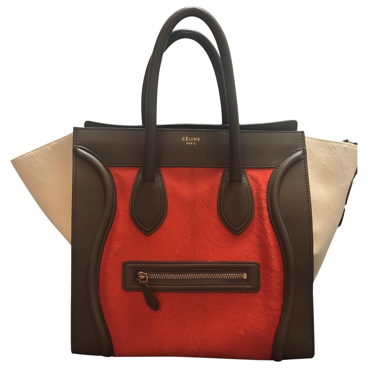Celine Luggage Multicolour Pony-style calfskin handbag for Women \N