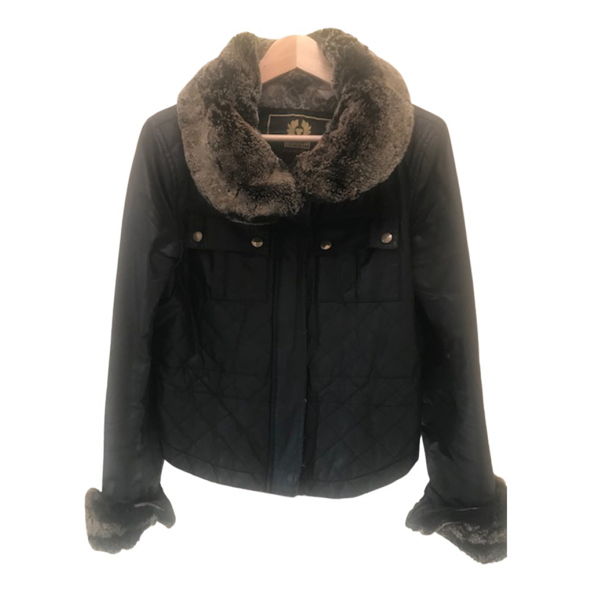 Belstaff \N Black Cotton jacket for Women 42 IT