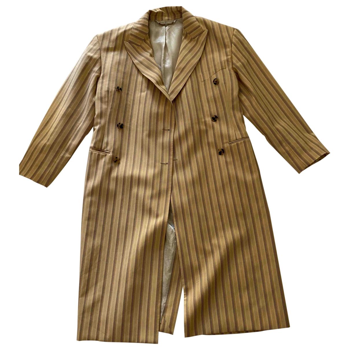 Acne Studios \N Yellow Wool coat for Women 36 FR