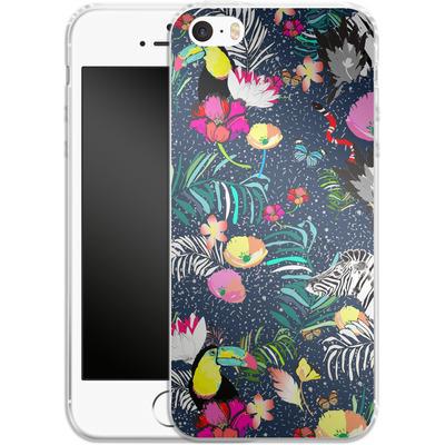 Apple iPhone 5s Silikon Handyhuelle - Jungle Glow von Mukta Lata Barua