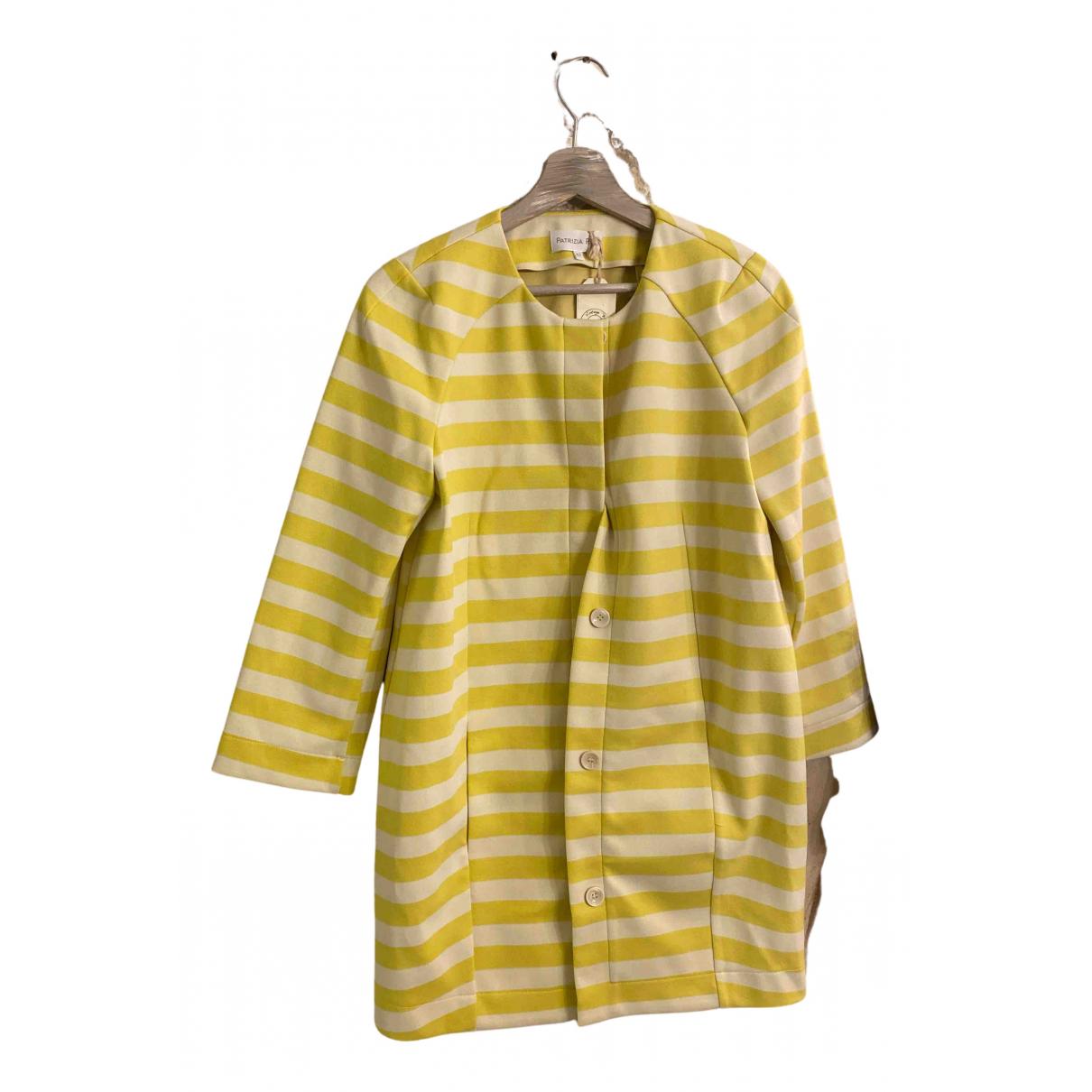 Patrizia Pepe N Yellow Cotton jacket for Women 42 IT