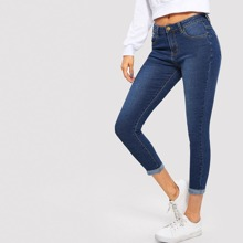 Schmale Crop Jeans