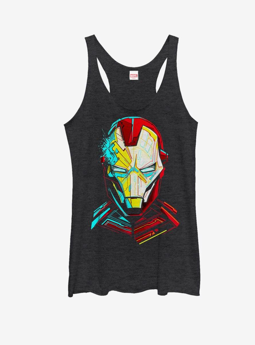 Marvel Iron Man Sketch Womens Tank Top