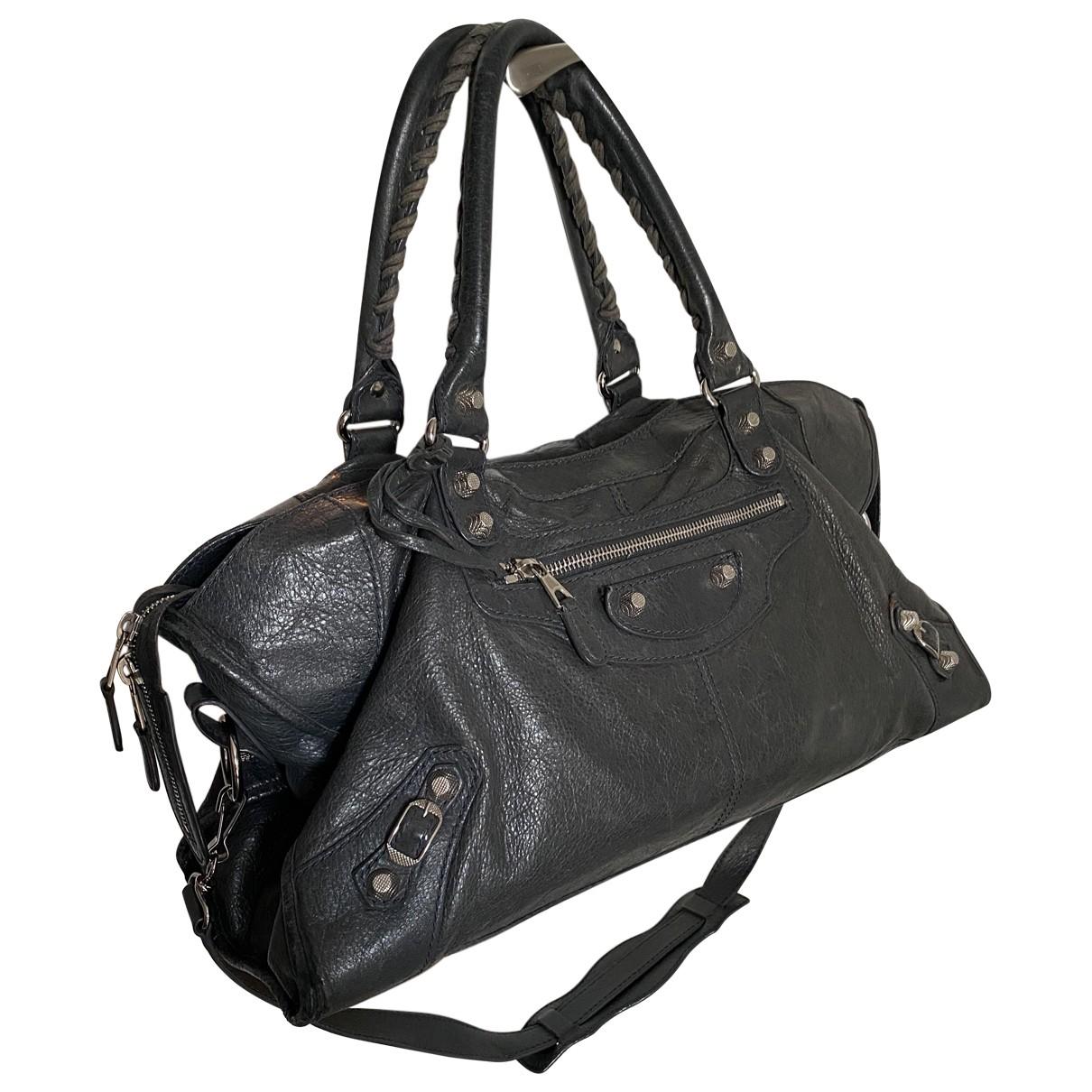 Balenciaga - Sac a main Part Time pour femme en cuir - gris