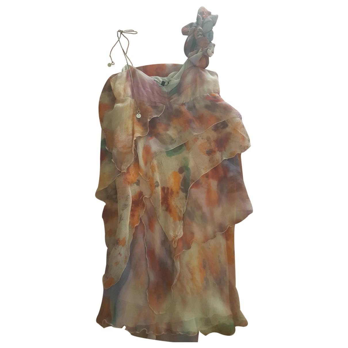 Patrizia Pepe \N Multicolour Silk dress for Women 44 IT