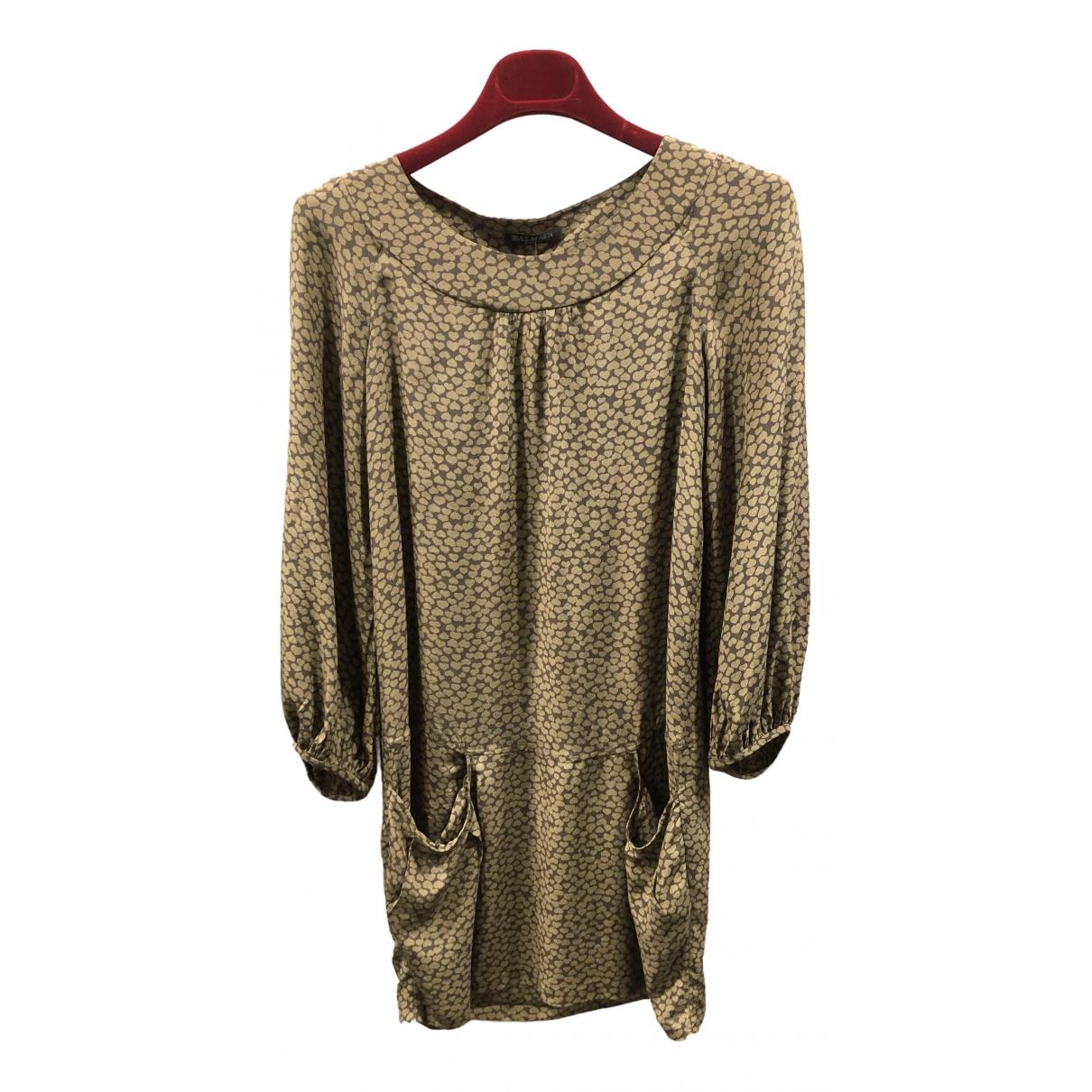 Balmain \N Kleid in  Gold Seide