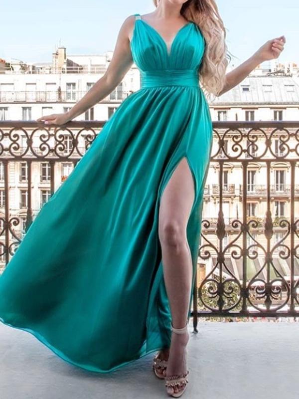 Ericdress A-Line Pick-Ups Sleeveless Floor-Length Prom Dress
