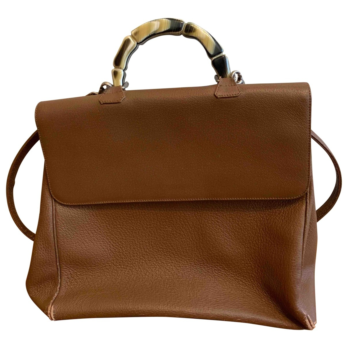 Non Signé / Unsigned \N Camel Leather handbag for Women \N