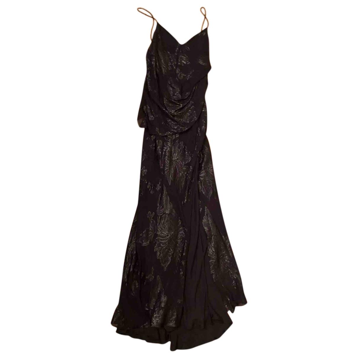 Maxi vestido de Seda Saint Laurent
