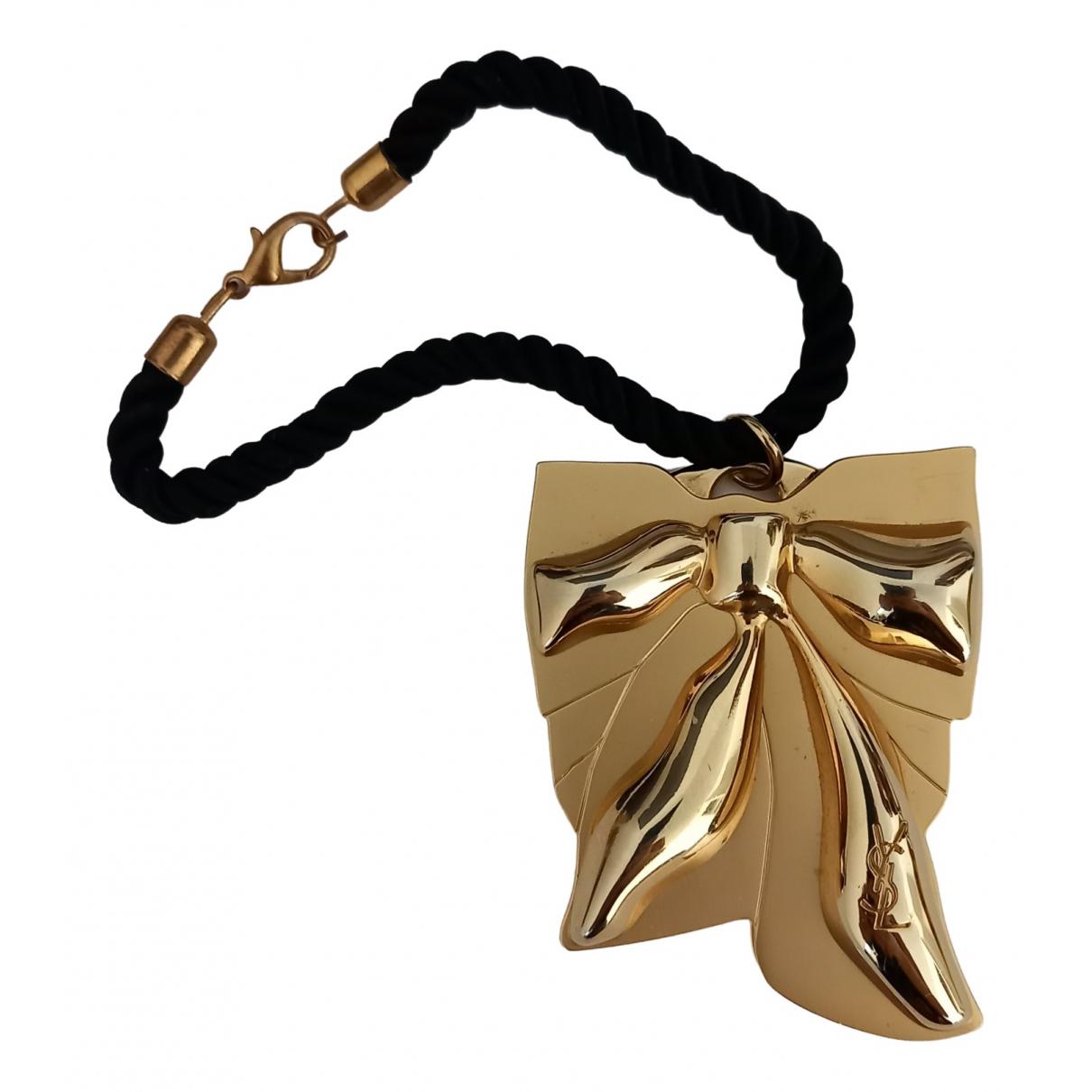 Yves Saint Laurent \N Taschenschmuck in  Gold Metall