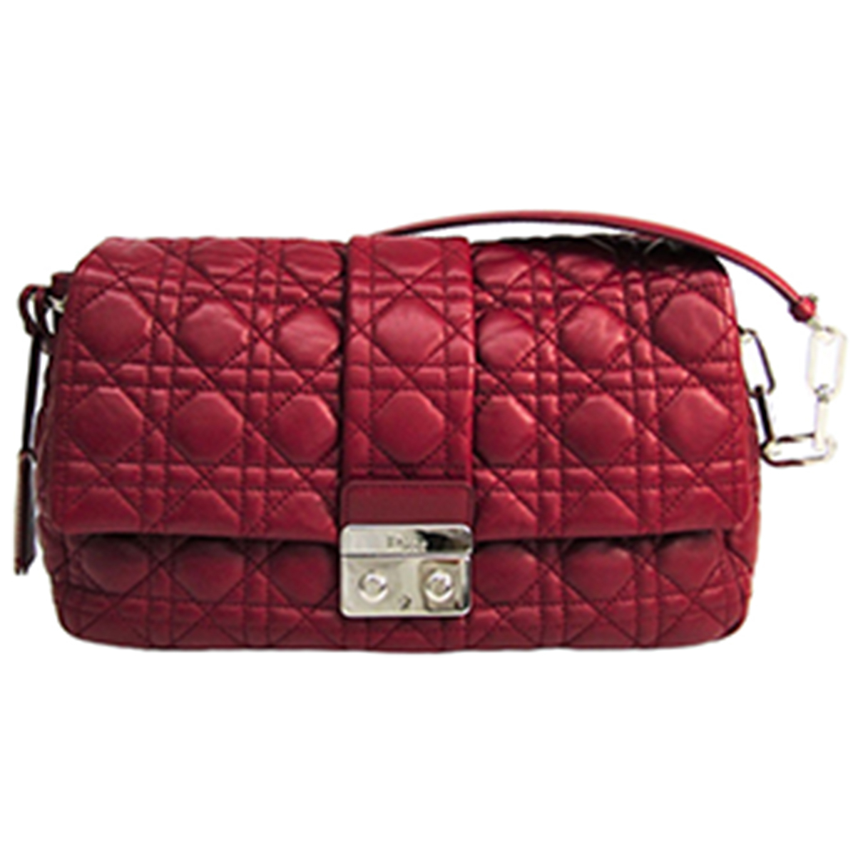 Dior New Lock  Red Leather handbag for Women \N