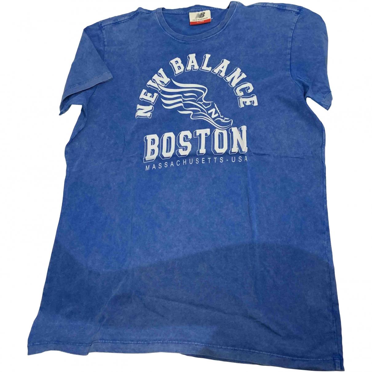 New Balance - Tee shirts   pour homme en coton - bleu