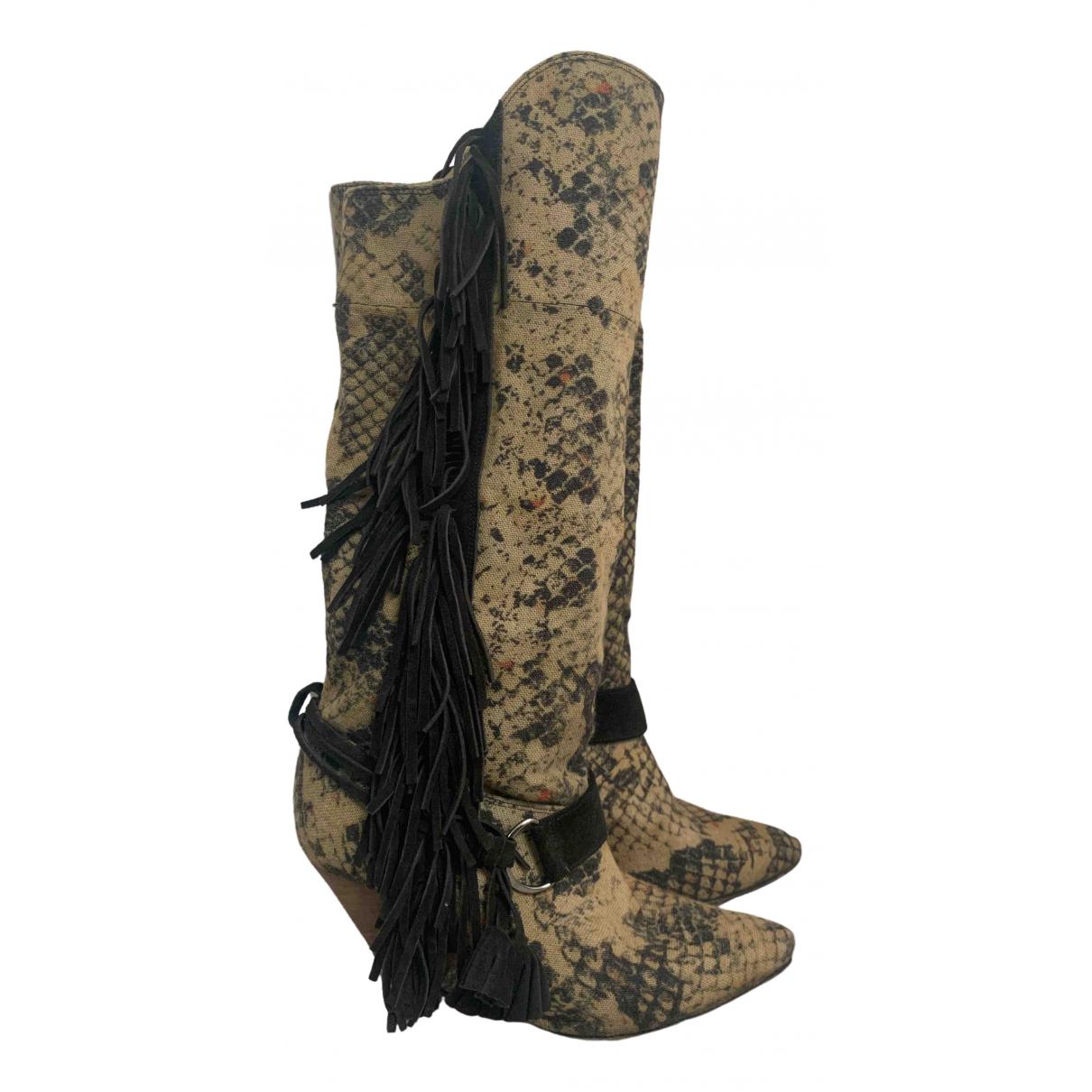 Isabel Marant N Khaki Cloth Boots for Women 40 EU