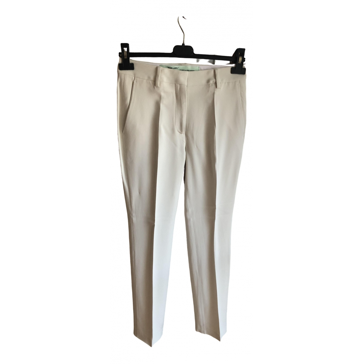 Off-white \N White Trousers for Women 40 IT