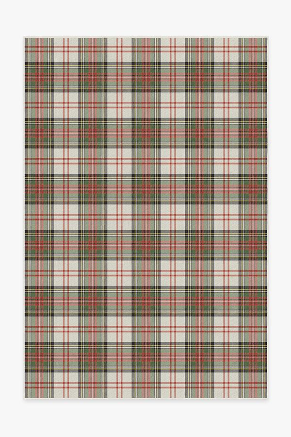 Washable Rug Cover & Pad | Dress Stewart Tartan Rug | Stain-Resistant | Ruggable | 6'x9'