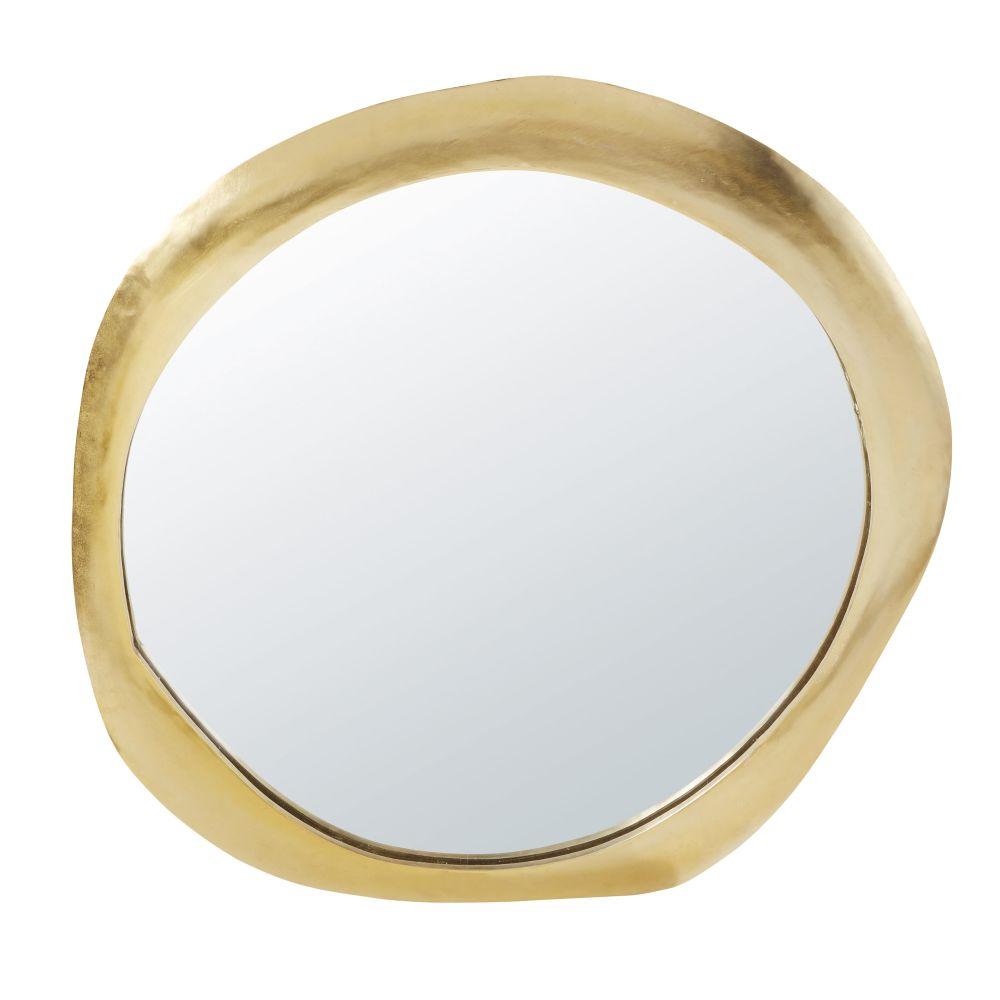 Spiegel mit goldfarbenem Metallrahmen 85x89