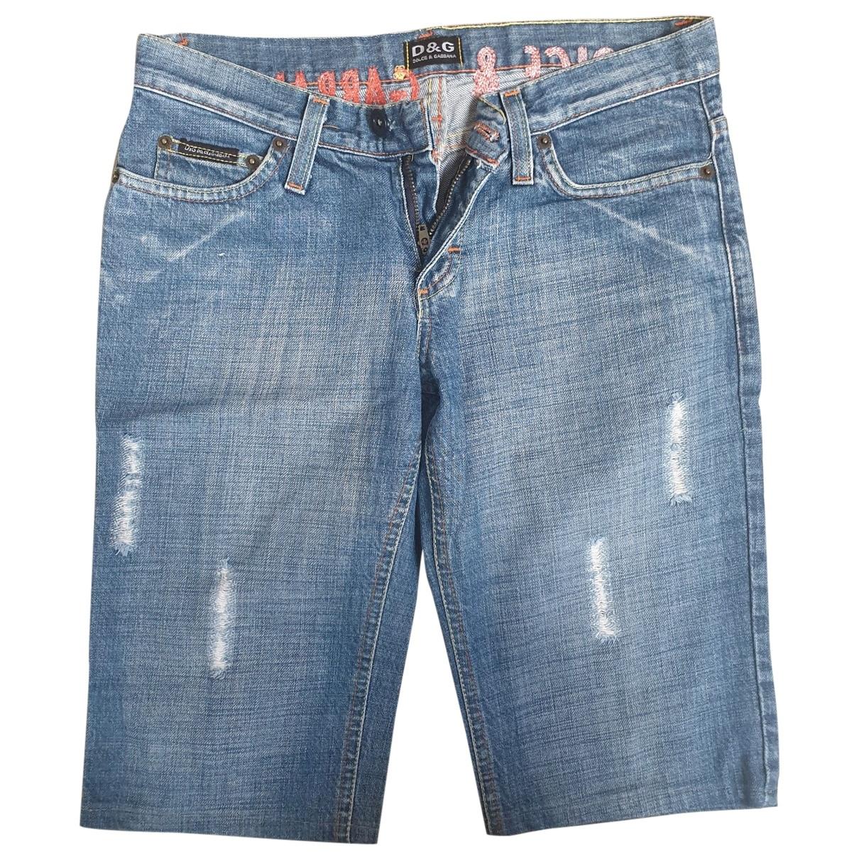 D&g \N Blue Cotton Shorts for Women 44 FR