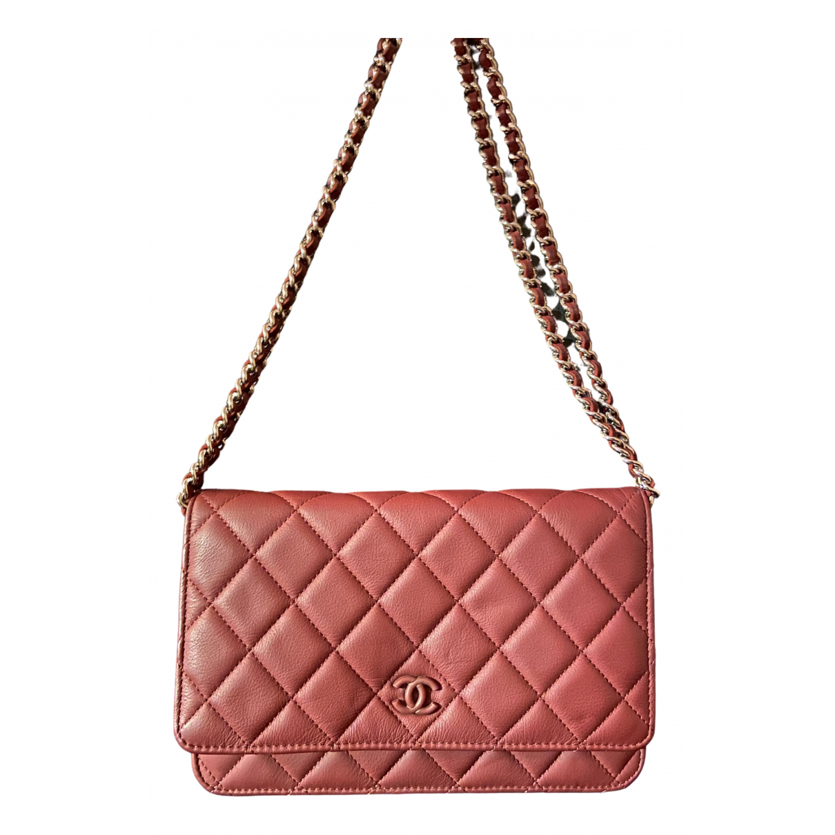 Chanel Wallet on Chain Burgundy Leather handbag for Women \N