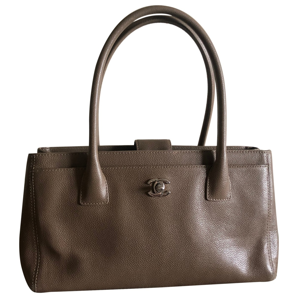 Chanel Executive Beige Leather handbag for Women \N