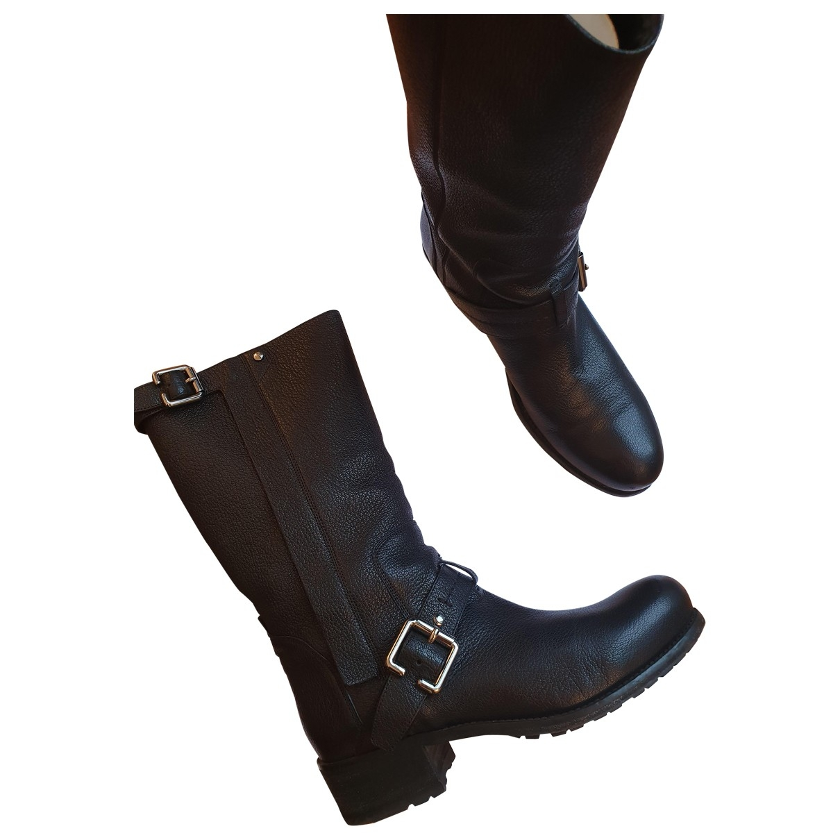 Dior \N Black Leather Boots for Women 38 EU