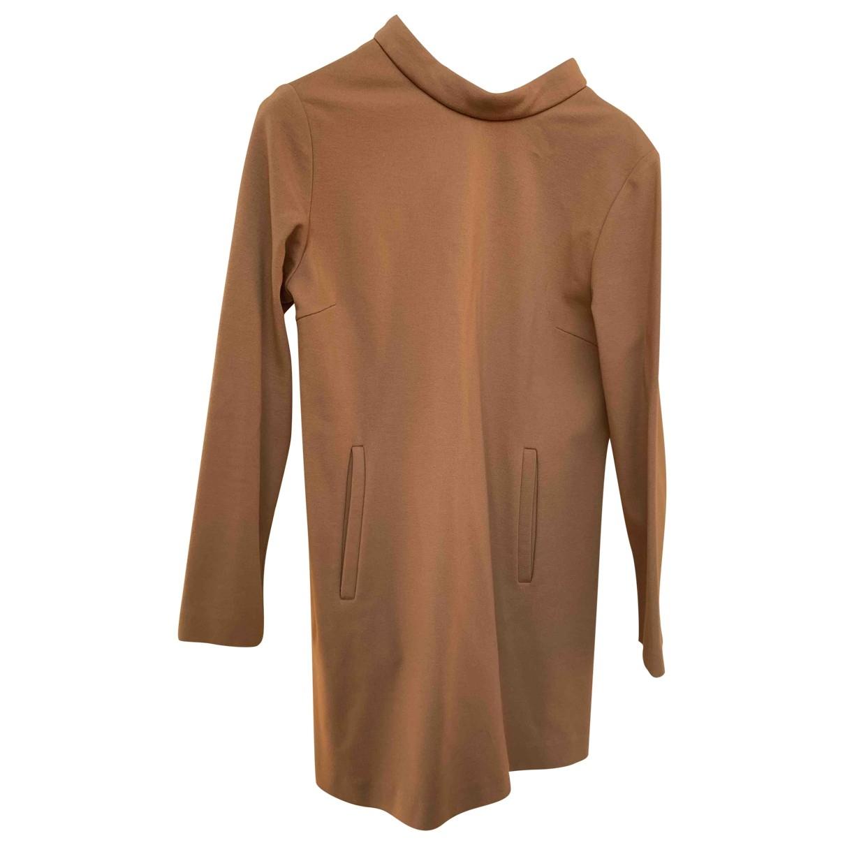 Douuod \N Khaki Cotton - elasthane dress for Women 40 IT