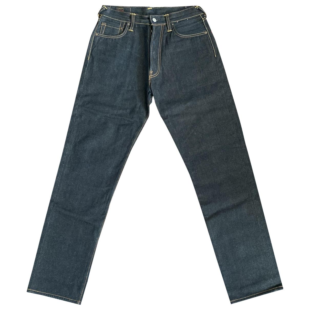 Evisu \N Blue Cotton Jeans for Men 30 US