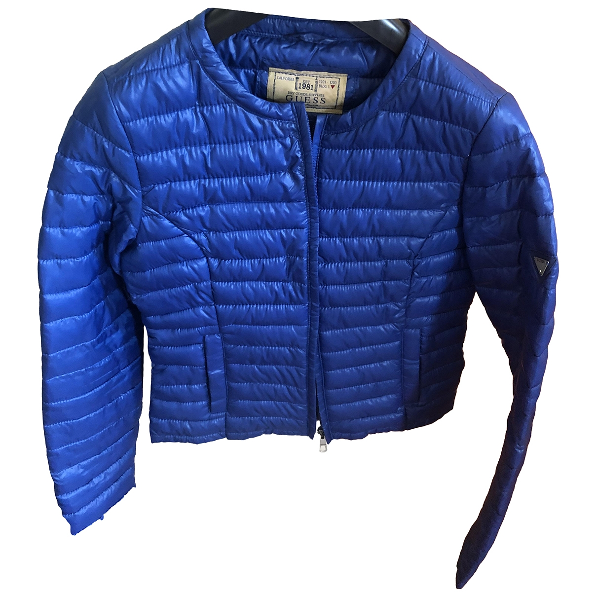 Guess \N Blue Cotton jacket for Women 38 IT