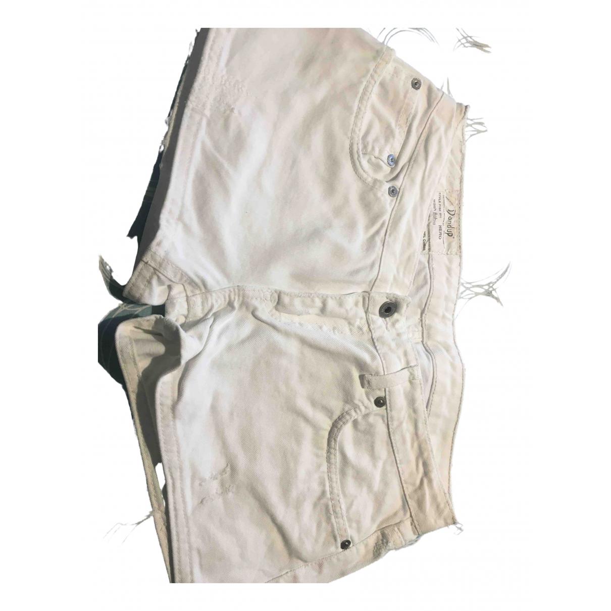 Dondup - Short   pour femme en coton - blanc