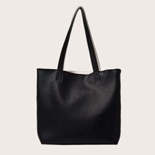 Minimalist Tote Bag With Inner Pouch