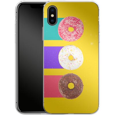 Apple iPhone X Silikon Handyhuelle - Donuts von Danny Ivan
