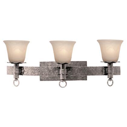 Americana 4203PS/1365 3-Light Bath in Pearl Silver with Ecru Standard Glass