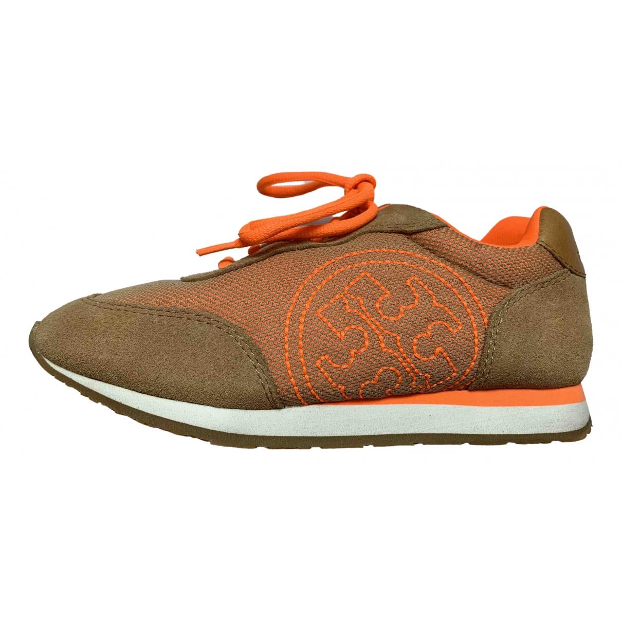Tory Burch \N Sneakers in  Orange Veloursleder