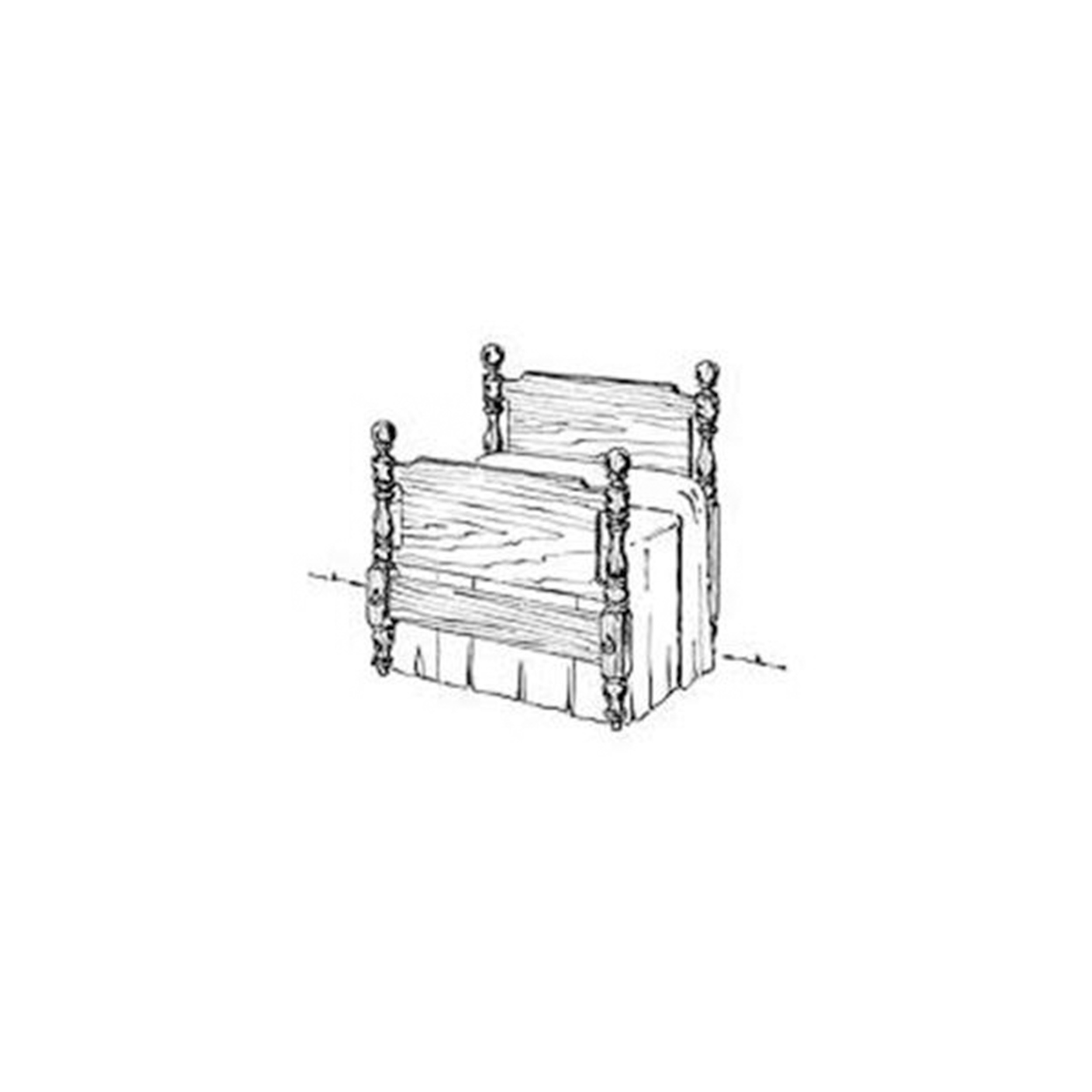 Woodworking Project Paper Plan to Build Early American Bed