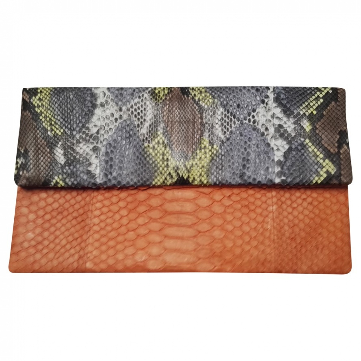 Non Signé / Unsigned \N Multicolour Python handbag for Women \N