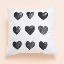Heart Print Cushion Cover Without Filler